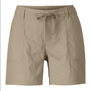 The North Face Nylon Hiking Shorts Khaki NWT